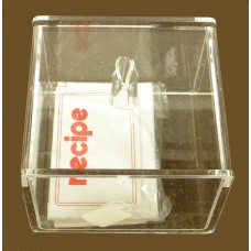 Clear Recipe Box Holder