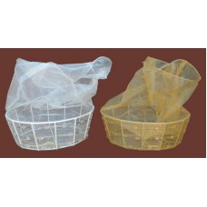 Jeweled Organza Gift Baskets /White or Gold