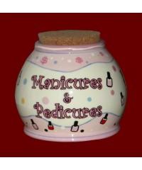 "Storage Jars /""Manicures & Pedicures"""