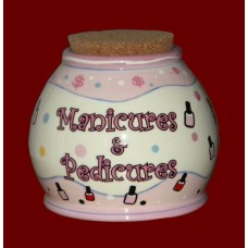 "Storage Jars /""Manicures & Pedicures"""