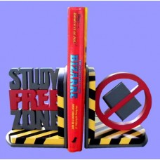 """Student Bookends /""""Study-Free Zone"""""""