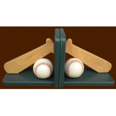 Baseball & Bat Wood Bookends