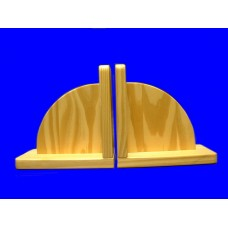 Arched Wood Bookends /Natural, Honey or White