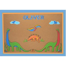 Bulletin Boards /Large Natural /Various Dinosaurs 2