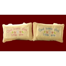 """God Bless This Little One"" Hanging Pillows"