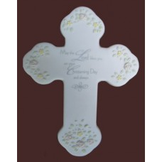 Christening Cross Plaque /Heavenly Moments