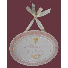 """Bless This Baby"" Hanging Plaques"