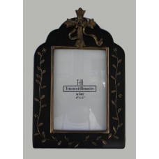 Black Frame /Gold Cross Picture Frames