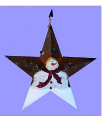 Giant Metal Snowman Stars