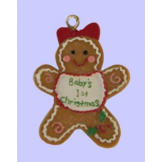 Baby's First Christmas Gingerbread Ornaments