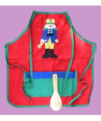 "Child's Aprons W/Spoon /""Nutcracker"""