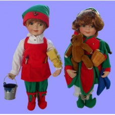 "Dolls : ""Santa's Helpers"" /Boy & Girl"