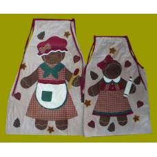 Mommy & Me Holiday Aprons: SET of 2
