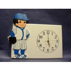 "Baseball Boy Wall-Plaque Clocks /""Baseball Boy"""
