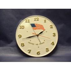 "Ceramic Wall Clock/""United We Stand"""