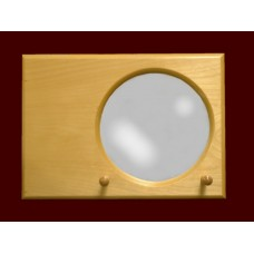 Mirror: Natural or White /2-Peg Plaque
