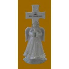 "Communion /""My First Communion"" Porcelain Cross Figurines"