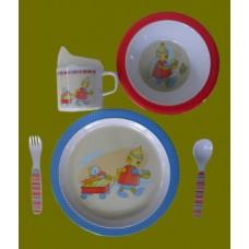 """Dish Sets /5 Pc. Dish Sets /""""Baby Bots"""""""