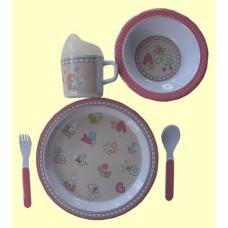 """Dish Sets /5 Pc. Dish Sets /""""ABC & Me"""""""