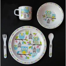 "Dish Sets /5 Pc. Dish Sets /""Owls"""