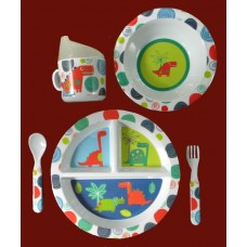 """Dish Sets /5 Pc. Dish Sets /""""Dinosaurs"""""""