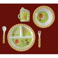 "Dish Sets /5 Pc. Dish Sets /""Farm Animals"""