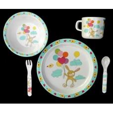 """Dish Sets /5 Pc. Dish Sets /""""Bunny"""""""