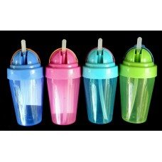 Assorted Sipper Cups W/Pop-Up Straw