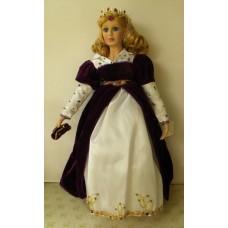 Porcelain Dolls: Princess Dolls /Purple Dress