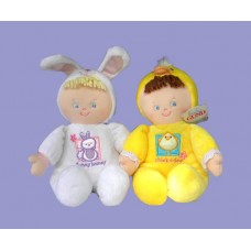 "Dolls: ""Chick-a-Dee"" and ""Funny Bunny"" Plush"