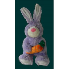 Bunnies /Purple Rabbit W/Carrot