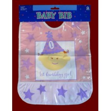 1st Birthday Bibs: Boy or Girl /Vinyl