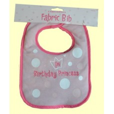 "1st Birthday Bibs:""Princess"" or ""Birthday Boy"" Embroidered Fabric"