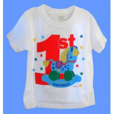 1st Birthday Tees: Rocking Horse /BOY