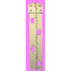 Photo Growth Charts/Natural w/Name Plaque