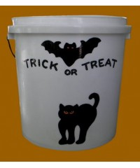"""Small White Buckets Sample /""""Trick Or Treat"""""""