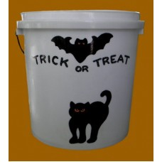 "Small White Buckets Sample /""Trick Or Treat"""