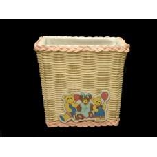 Teddy Bear Wicker Baskets
