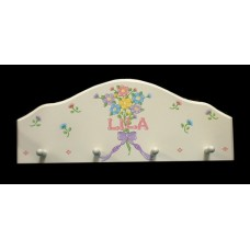 4-Peg Arched Hang-Ups /White: Daisy Bouquet