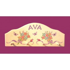 4-Peg Arched Hang-Ups /White: Butterflies & Bows