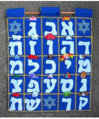Aleph Bet Hebrew ABC Wallhanging