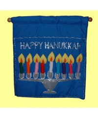 Happy Hanukkah /Wall Hangings /Blue