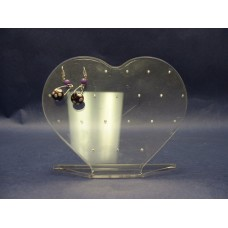 Earring Holders/Lucite Hearts
