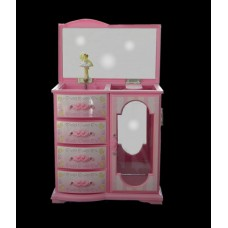 Musical Jewelry Boxes /Pink Plastic