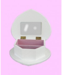 Jewelry Boxes /White Wood Heart