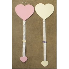Barrette Holders /White or Pink Hearts