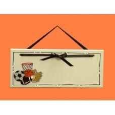 Sports Name Plaques /black or white ribbon