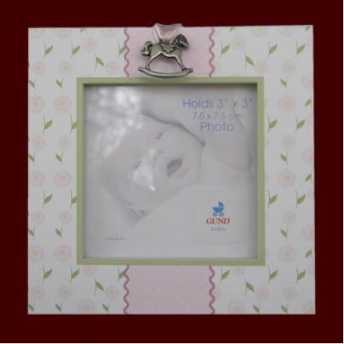 Lil Boutique Picture Frames Blue Or Pink Wrocking Horse Medallion