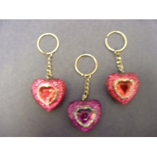 """Puffy Heart"" Key-Rings"