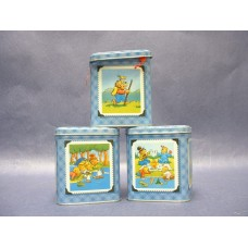 """Berenstain Bears"" Tins W/Lids"